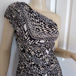 Meggy London one shoulder sleeveless dress